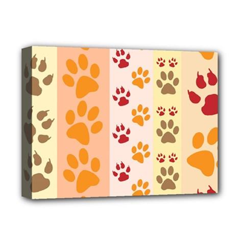 Paw Print Paw Prints Fun Background Deluxe Canvas 16  X 12