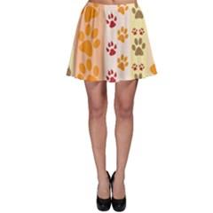 Paw Print Paw Prints Fun Background Skater Skirt