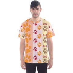Paw Print Paw Prints Fun Background Men s Sport Mesh Tee