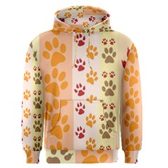 Paw Print Paw Prints Fun Background Men s Pullover Hoodie