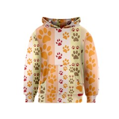 Paw Print Paw Prints Fun Background Kids  Pullover Hoodie