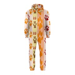 Paw Print Paw Prints Fun Background Hooded Jumpsuit (kids)