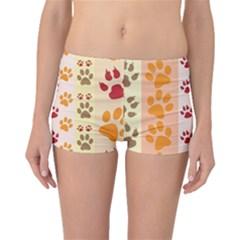 Paw Print Paw Prints Fun Background Boyleg Bikini Bottoms