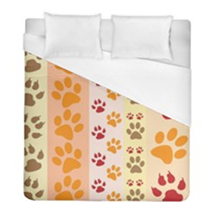 Paw Print Paw Prints Fun Background Duvet Cover (full/ Double Size)
