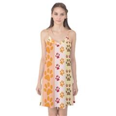 Paw Print Paw Prints Fun Background Camis Nightgown