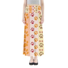 Paw Print Paw Prints Fun Background Maxi Skirts