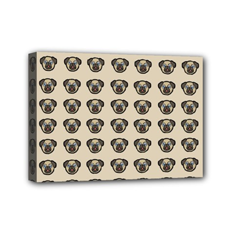 Puppy Dog Pug Pup Graphic Mini Canvas 7  X 5