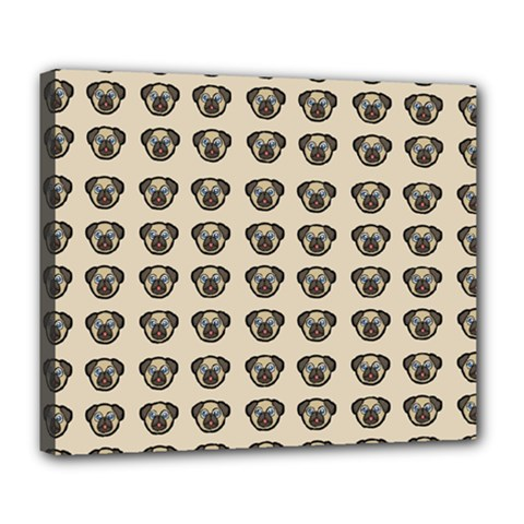 Puppy Dog Pug Pup Graphic Deluxe Canvas 24  X 20