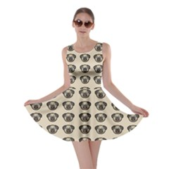 Puppy Dog Pug Pup Graphic Skater Dress