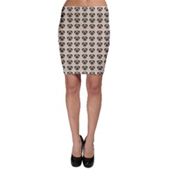 Puppy Dog Pug Pup Graphic Bodycon Skirt