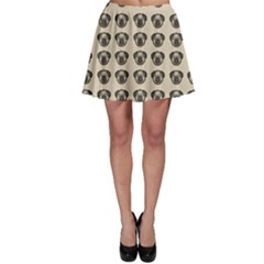 Puppy Dog Pug Pup Graphic Skater Skirt