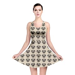 Puppy Dog Pug Pup Graphic Reversible Skater Dress