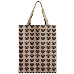 Puppy Dog Pug Pup Graphic Zipper Classic Tote Bag