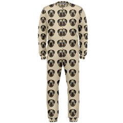 Puppy Dog Pug Pup Graphic Onepiece Jumpsuit (men)