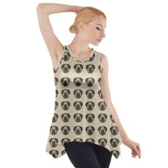 Puppy Dog Pug Pup Graphic Side Drop Tank Tunic