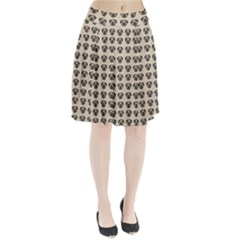 Puppy Dog Pug Pup Graphic Pleated Skirt