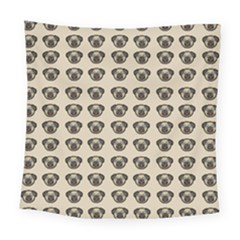 Puppy Dog Pug Pup Graphic Square Tapestry (large)