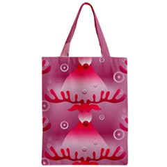 Seamless Repeat Repeating Pattern Zipper Classic Tote Bag