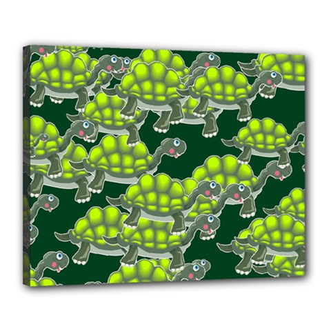 Seamless Tile Background Abstract Turtle Turtles Canvas 20  x 16
