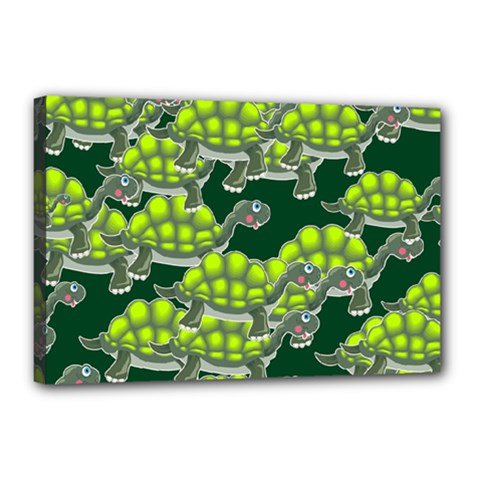 Seamless Tile Background Abstract Turtle Turtles Canvas 18  X 12