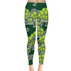 Seamless Tile Background Abstract Turtle Turtles Leggings