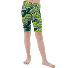 Seamless Tile Background Abstract Turtle Turtles Kids  Mid Length Swim Shorts