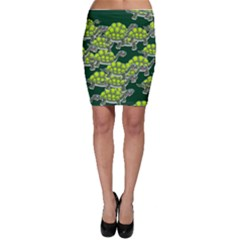 Seamless Tile Background Abstract Turtle Turtles Bodycon Skirt