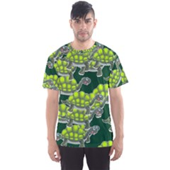 Seamless Tile Background Abstract Turtle Turtles Men s Sport Mesh Tee