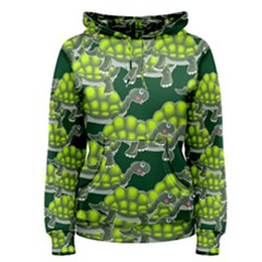 Seamless Tile Background Abstract Turtle Turtles Women s Pullover Hoodie