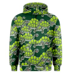 Seamless Tile Background Abstract Turtle Turtles Men s Zipper Hoodie