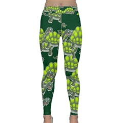 Seamless Tile Background Abstract Turtle Turtles Classic Yoga Leggings