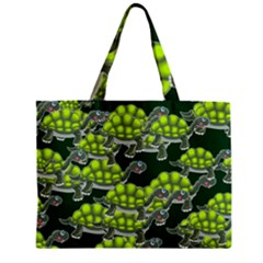 Seamless Tile Background Abstract Turtle Turtles Zipper Mini Tote Bag