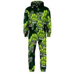Seamless Tile Background Abstract Turtle Turtles Hooded Jumpsuit (men)