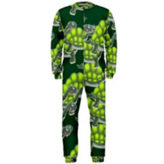 Seamless Tile Background Abstract Turtle Turtles Onepiece Jumpsuit (men)