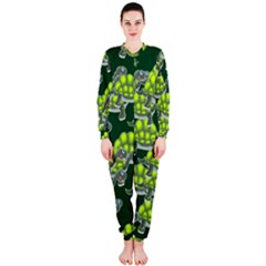 Seamless Tile Background Abstract Turtle Turtles Onepiece Jumpsuit (ladies)