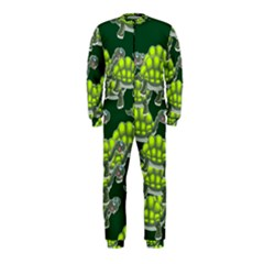 Seamless Tile Background Abstract Turtle Turtles Onepiece Jumpsuit (kids)