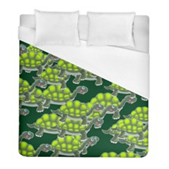 Seamless Tile Background Abstract Turtle Turtles Duvet Cover (full/ Double Size)