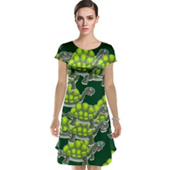 Seamless Tile Background Abstract Turtle Turtles Cap Sleeve Nightdress