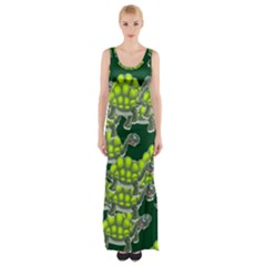 Seamless Tile Background Abstract Turtle Turtles Maxi Thigh Split Dress
