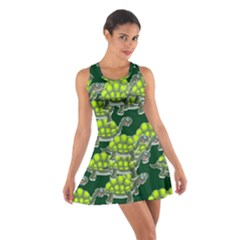 Seamless Tile Background Abstract Turtle Turtles Cotton Racerback Dress