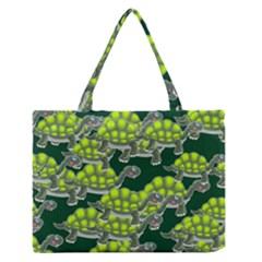 Seamless Tile Background Abstract Turtle Turtles Medium Zipper Tote Bag
