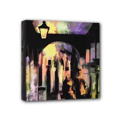 Street Colorful Abstract People Mini Canvas 4  x 4
