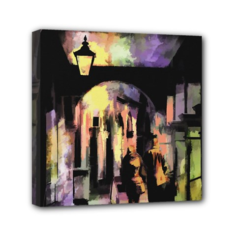 Street Colorful Abstract People Mini Canvas 6  X 6
