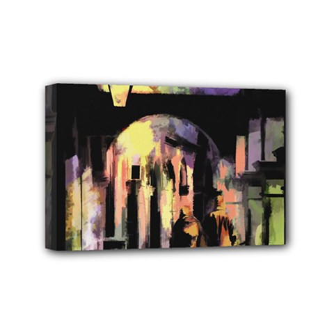 Street Colorful Abstract People Mini Canvas 6  X 4