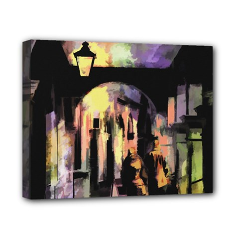 Street Colorful Abstract People Canvas 10  X 8