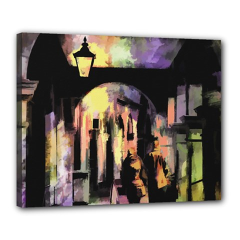 Street Colorful Abstract People Canvas 20  X 16