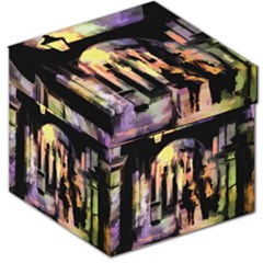 Street Colorful Abstract People Storage Stool 12
