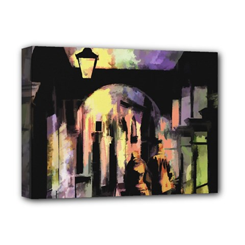 Street Colorful Abstract People Deluxe Canvas 16  X 12