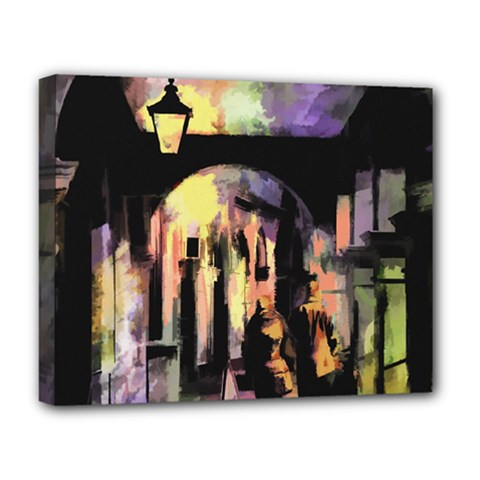 Street Colorful Abstract People Deluxe Canvas 20  X 16