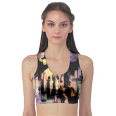 Street Colorful Abstract People Sports Bra